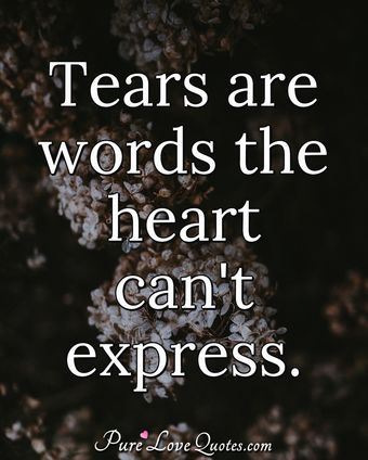 Tears Are Words The Heart Cant Express