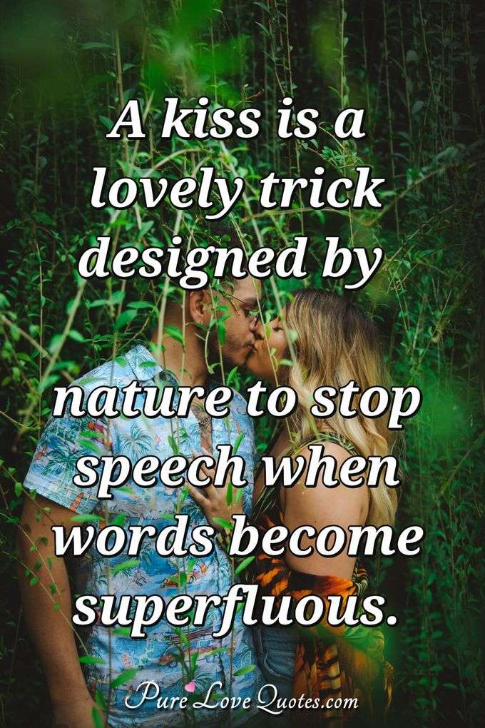 lovely kiss quotes