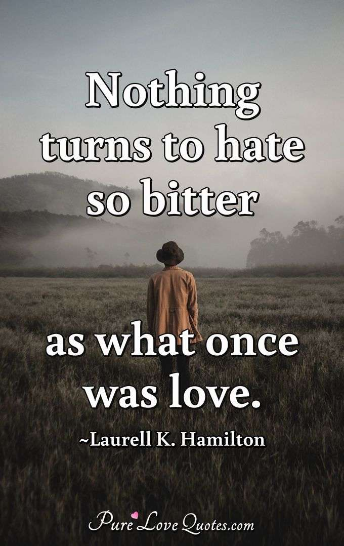 Nothing Turns To Hate So Bitter As What Once Was Love Purelovequotes
