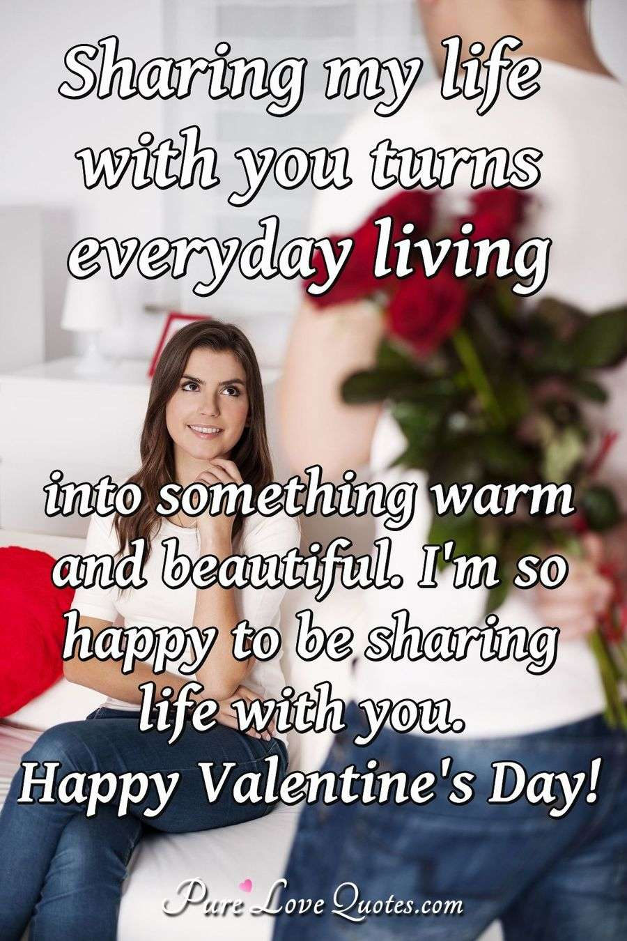 Sharing My Life With You Turns Everyday Living Into Something Warm