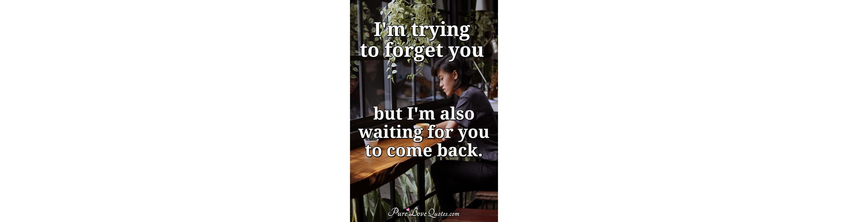 Beautiful Waiting You Come Back Quotes