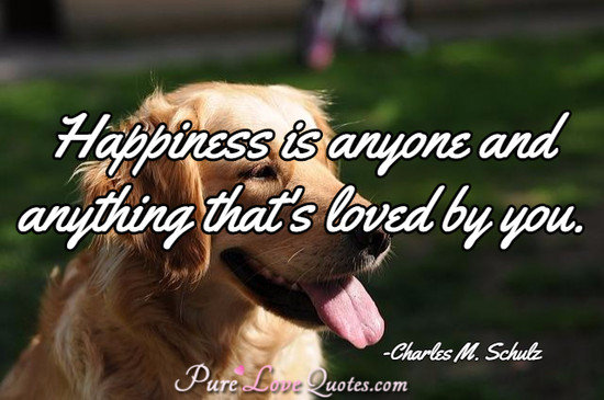 Happiness is anyone and anything that's loved by you.
