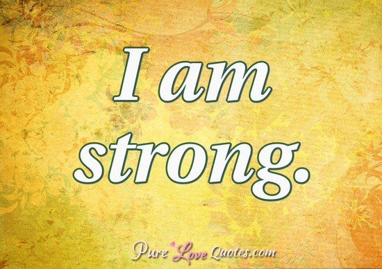 Have quickly I am strong quote speaking
