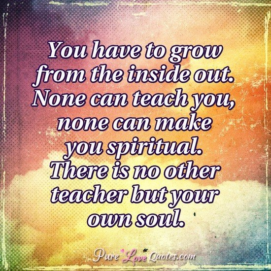 Teach Peace Quotes: You Have To Grow From The Inside Out. None Can Teach You